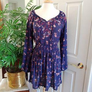 Mason & Belle Floral Boho Fringe Dress